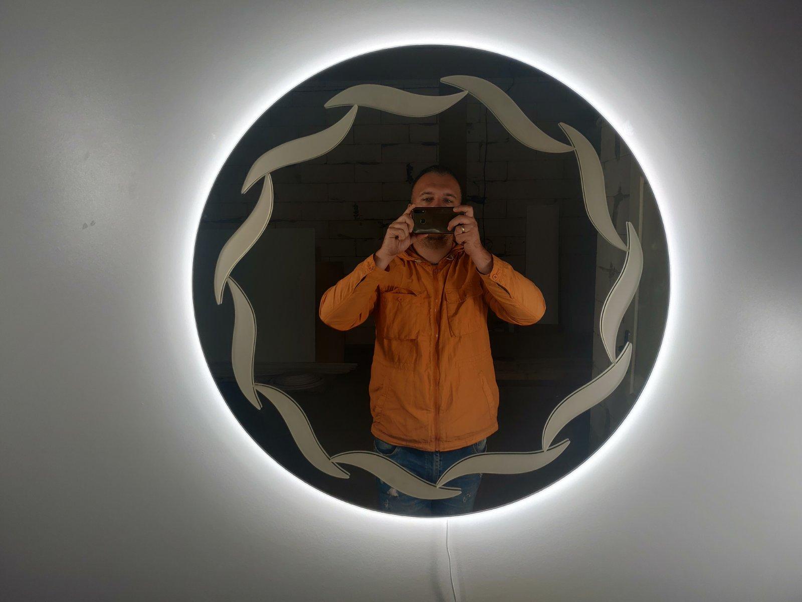 дизайнерское зеркало круглое