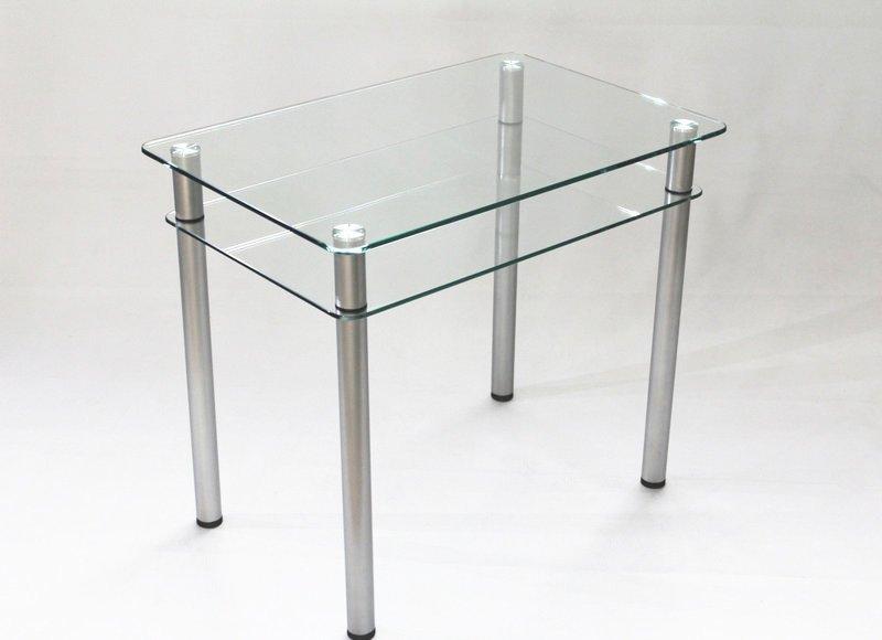 кухонный обеденный стол из прозрачного стекла