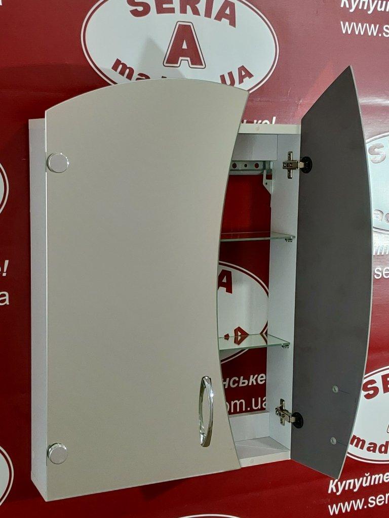 навесной зеркальный шкаф фигурный 50 см