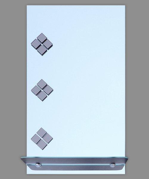 небольшое прямоугольное зеркало для ванной